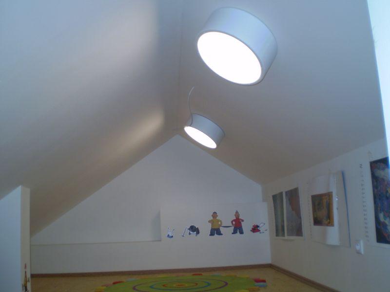 Dětský kout pod střechou